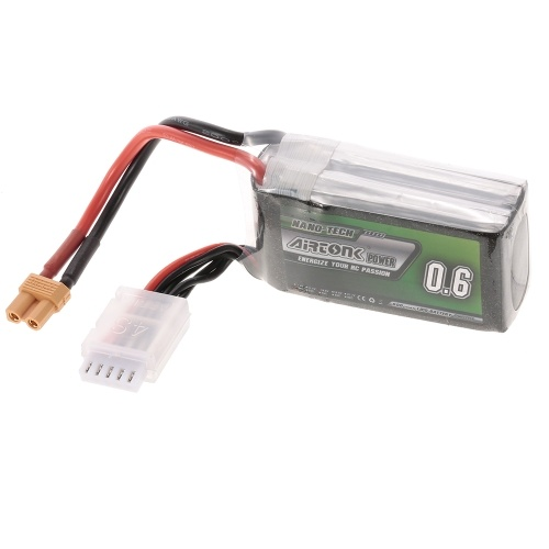 14.8V 600mAh 30C 4S Rechargeable Li-Po Battery with XT30 Plug for RC Racing Drone Quadcopter Helicopter Airplane Car Truck