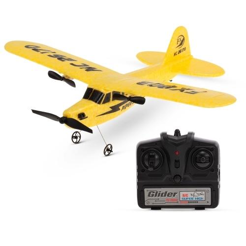 FX-803 2.4G 2CH RC Planeador ala fija RTF avión amarillo - Tomtop.com