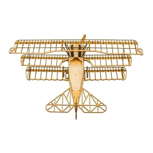 Dancing Wings Hobby VX11 1/18 Fokker DRI Statico in legno modello di aeroplano Replica artigianale regalo di arredamento in legno