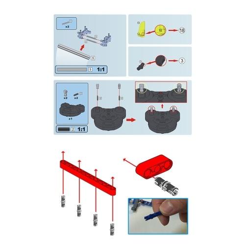 DOUBLE E C51004 533 шт. Строительные блоки Кирпичи RC Off Road Car DIY Kits