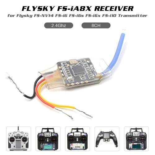 Ricevitore Flysky FS-iA8X 8CH 2.4G Ricevitore i-Bus / PPM per FS-Nirvana FS-NV14 FS-i6 FS-i6s FS-i6x Trasmettitore FS-i8 FS-i10 FS-i10 RC Quadricottero