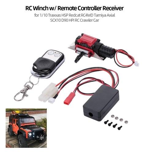 Treuil RC avec récepteur de télécommande pour 1/10 Traxxas HSP Voiture Red Craw RC4WD Tamiya Axial SCX10 D90 HPI RC