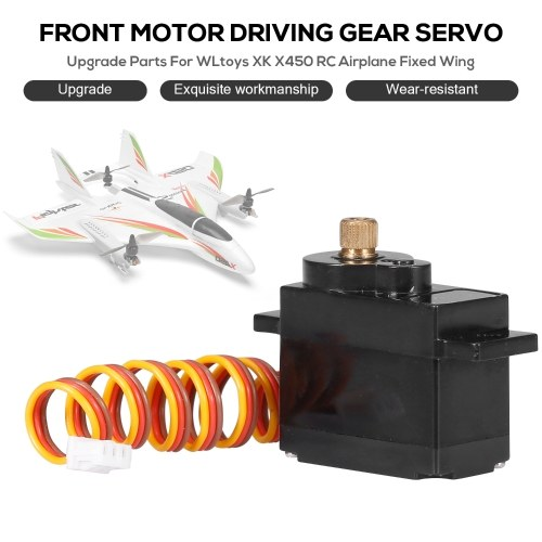Parti di aggiornamento per WLtoys XK X450 RC Aircraft Aircraft Front Motor Driving Servo with Metal Gear