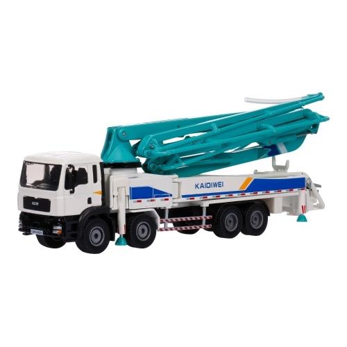 1:55 Auto in lega Modello di camion Pompa per calcestruzzo Camion Ornamenti in metallo per adulti Giocattoli regalo di Capodanno per bambini