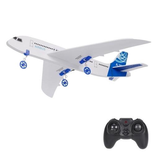 A380 2.4GHz 2CH Avión pequeño RC Avión DIY Juguetes de vuelo para niños Niños