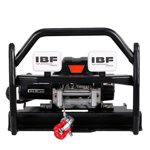 RC Car Metal Front Bumper with Winch Base Compatible with 1/10 RC Crawler Traxxas TRX-4 G500 4x4 TRX-6 G63 6x6 Image