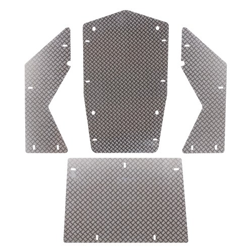 Kompatibel mit Axial Wraith 90018 Motorhaubenverkleidung aus Aluminiumlegierung Dachverkleidung Seitenwand Unterfahrschutz RC Karosserieschutz
