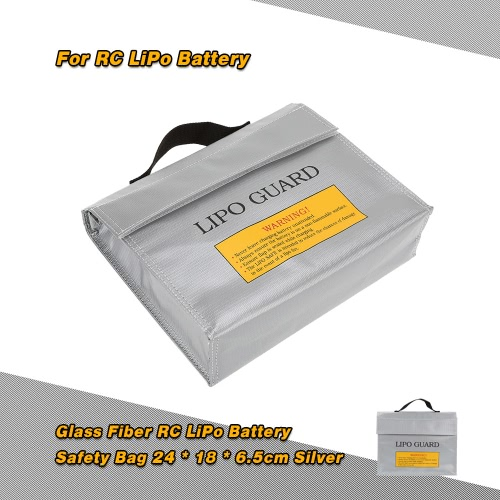 24 * 18 * 6.5cm Silver High Quality Glass Fiber RC LiPo Battery Safety Bag Safe Guard Charge Sack