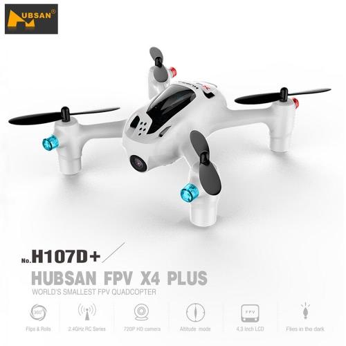 Hubsan X4 H107D + 2.4GHz 4CH a sei assi della girobussola 5.8G FPV Drone 720P HD RTF RC Quadcopter