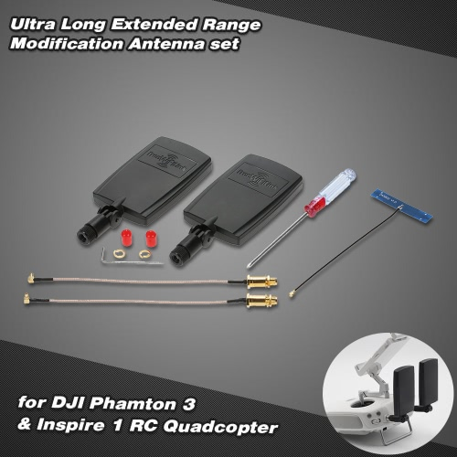 DJIファントム3プロフェッショナル上級&インスパイア1 RCクワッドローター用超ロング取寄せ修正アンテナセット