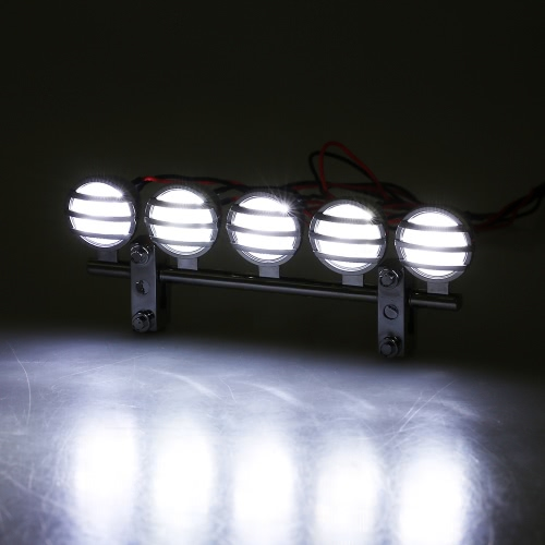 GTPOWER 5 placcare Faretto LED RC tetto luce Bar Set per crawler RC
