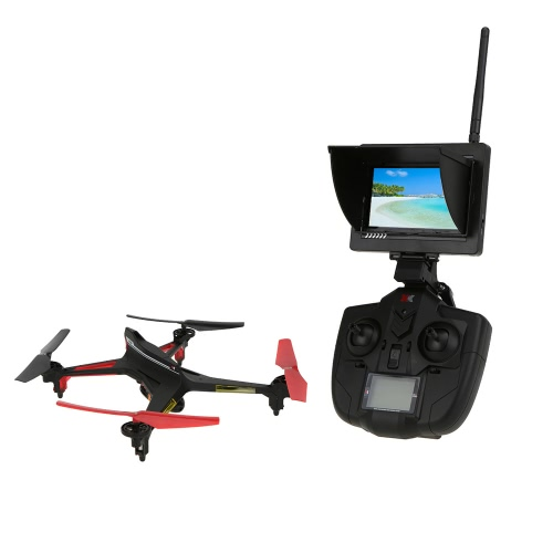XK Alien X250A 2.4G 4CH 6-Axis Gyro 2.0MP Camera 5.8G FPV RC Quadcopter with One Key Roll Headless Mode One Key Return Function