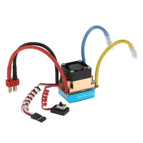 Wasserdichte 320A gebürstet ESC elektronische Drehzahlregler mit 5V/3A BEC T-Stecker für 1/10 RC-Car