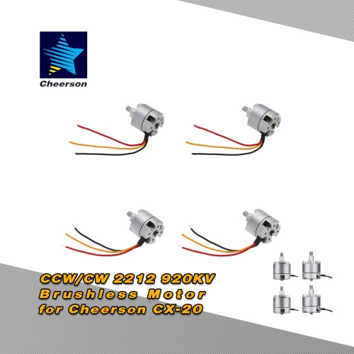 Original Cheerson Cw Ccw 2212 920kv Brushless Motor For Cx. Original Cheerson Cw Ccw 2212 920kv Brushless Motor For Cx20 Rc Quadcopter. Wiring. Drone Cx20 Wiring Diagram At Scoala.co