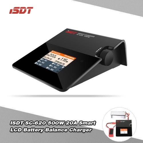 ISDT SC-620 500W 20A Mini Smart LCD Battery Balance Charger XT60 Plug for LiPo Li-ion LiFe NiCd NiMh LiHV Pb RC Battery