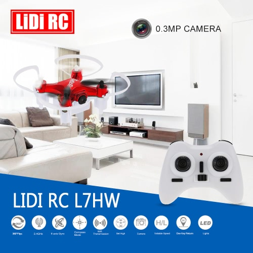 Originale LIDI RC L7HW mini WiFi FPV di RC Quadcopter 0.3MP macchina fotografica RC Aeromobili con barometro Set High Funzione