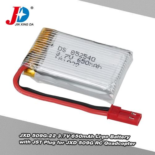 Batteria originale JXD 509G-22 3.7V 650mAh Li-po con spina JST per JXD 509G RC Quadcopter