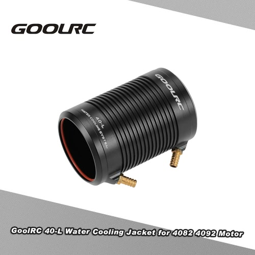 Original GoolRC Aluminium 40-L Wasserkühlgehäuse-Abdeckung für 4082 4092 RC Boot Brushless Motor