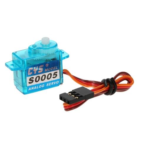СМУ-S0005 5g Облегченно Пластиковые шестерни Micro аналоговый стандарт Servo для RC самолетов