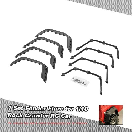 1 Set Fender Flare for 1/10 AXIAL SCX10 D90 D110 Rock Crawler RC Car