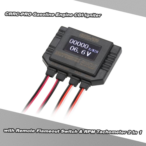 2 In 1 Remote Flameout Switch & RPM Tachometer for CRRCpro RC Airplane CDI Igniter Gasoline Engine