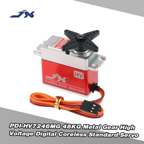JX PDI-HV7246MG 46KG Metal Gear High Voltage Digital Coreless Servo standard per RC 550-700 Elicottero