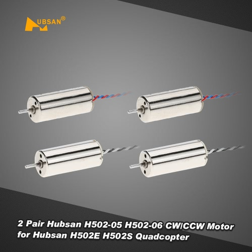 2 Pair Hubsan H502-05 H502-06 CW/CCW Motor for Hubsan H502E H502S RC Quadcopter Drone