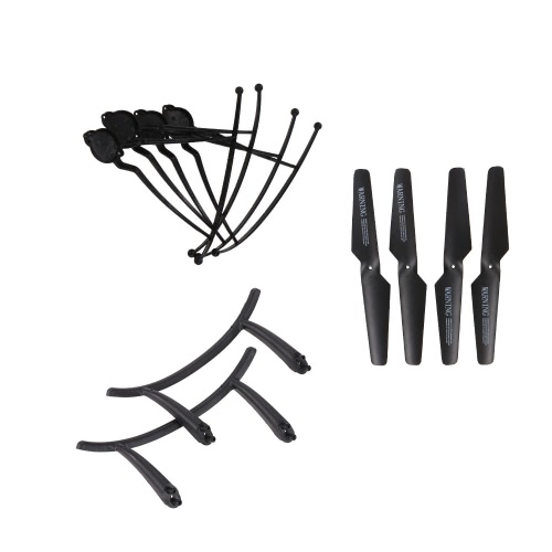 Original JJR/C H31 Spare Part 2 Pairs Propeller 4 Pcs Propeller Guard and 1 Pair Landing Gear for JJR/C H31 and GoolRC T6 RC Quadcopter