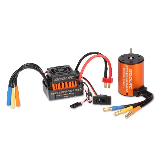 GoolRC Upgrade Wasserdichter 3650 3500KV Brushless Motor mit 60A ESC Combo Set für 1/10 RC Car Truck