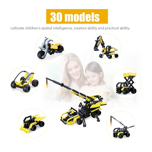 827Pcs Double E C51020W 30 in 1 RC Toy Factory Building Blocks Kits 2.4G Inspiring Model DIY Toys от Tomtop.com INT