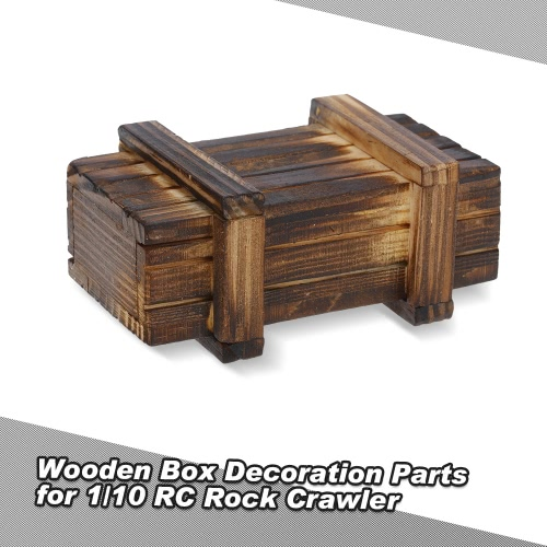 Wooden Box Decor Accessories Parts for 1/10 Traxxas HSP Redcat HPI TAMIYA CC01 Axial SCX10 RC4WD D90 RC Rock Crawler