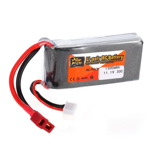 ZOP Power 3S 11.1V 1300mAh 30C LiPo Batteria T connettore