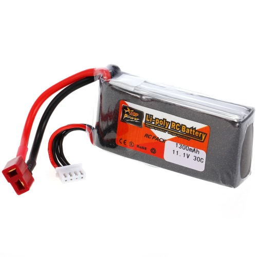 ZOP Power 3S 11.1V 1300mAh 30C LiPo Battery T Plug