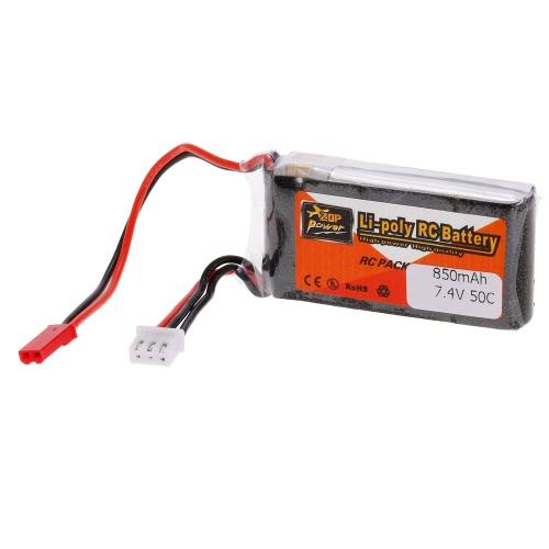 ZOP Power 2S 7.4V 850mAh 50C LiPo Battery JST Plug