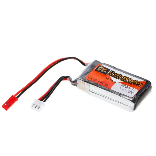 ZOP Power 2S 7.4V 850mAh 50C LiPo Batteria JST Spina