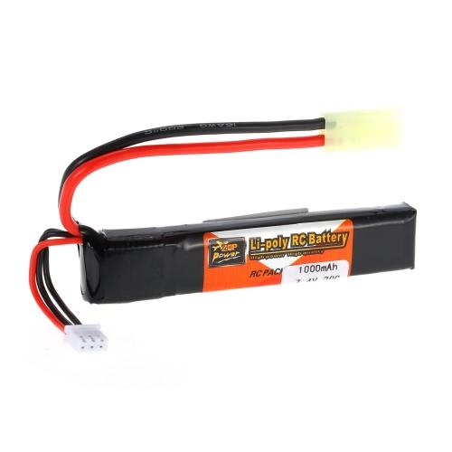 ZOP Power 2S 7.4V 1000mAh 20C LiPo Battery TAMIYA Plug