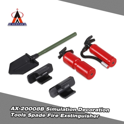 Austar AX-20008B Decoration Tools Spade Fire Exstinguisher for 1/10 Traxxas HSP Redcat TAMIYA CC01 SCX10 D90 RC Rock Crawler