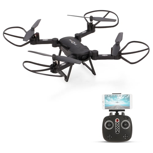 LH-X24 Wifi FPV 720P Wide Angle HD Camera Foldable 2.4GHz Selfie Drone RC Quadcopter with Altitude Hold Function