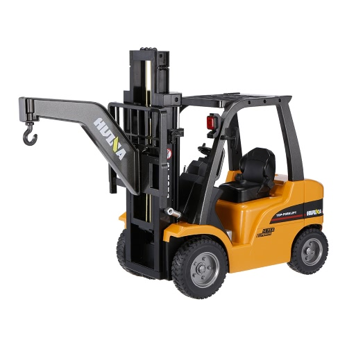 HUI NA TOYS 1577 2.4G 8CH 1/10 Alloy Forklift Construction Engineering Vehicle Toy Gift
