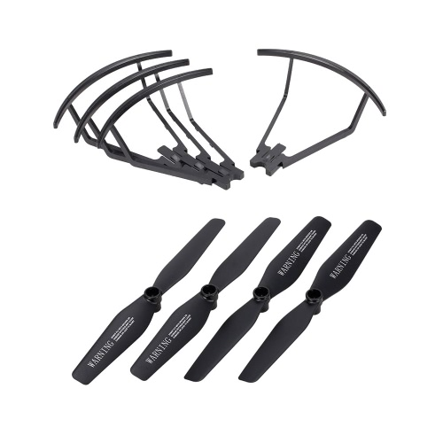 2 Pairs Propeller and 4pcs Propeller Guard Ring for VISUO XS809 XS809HW XS809W Foldable Drone RC Quadcopter