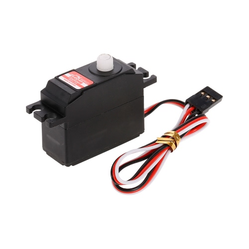 JX PS-2503HB 4.8V-6V High-Voltage 0.10sec / 60 ° 3.35kg Digital Plastic Gear Analogique Mini Servo Aluminium Case pour voiture 1/12 RC