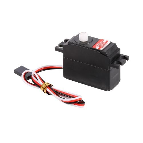 JX PS-2503HB 4.8V-6V ad alta tensione 0.10sec / 60 ° 3.35kg Digitale di plastica Ingranaggio analogico Servo Aluminums caso per 1/12 RC auto