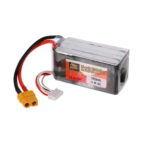ZOP Power 4S 14.8V 1400mAh 65C XT60 Plug LiPo Batterie pour 180 210 250 Racing Drone Quadcopter RC Car Boat