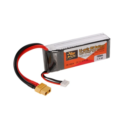 ZOP Power 3S 11.1V 1800mAh 65C LiPo Battery XT60 Plug