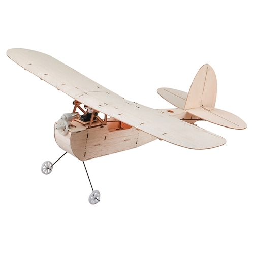 Galileo Balsawood 316mm Wingspan Biplane Warbird Aircraft Light Wood Airplane Kit w / EPS7 motor cepillado 5030 Prop