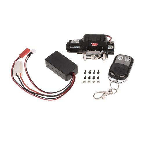 Warn 9.5CTI Winch w / Wireless Remote Controller Receiver per 1/10 Traxxas Hsp Redcat Rc4wd Tamiya Axial SCX10 D91 Hpi RC Crawler
