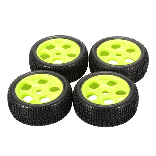4pcs llantas de goma de 112 mm 17 mm borde de la rueda hexagonal Hub para 1/8 RC Buggy Buggy Off-Road Car Truck