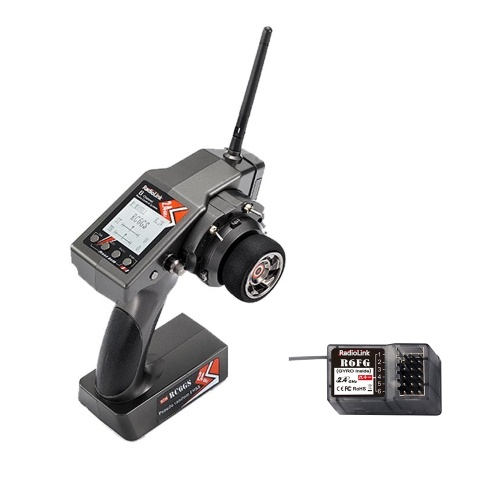 RadioLink RC6GS 2.4GHz 6CH Remote Control System Transmitter & R6FG 6CH Receiver with Gyro for RC Crawler Car Boat