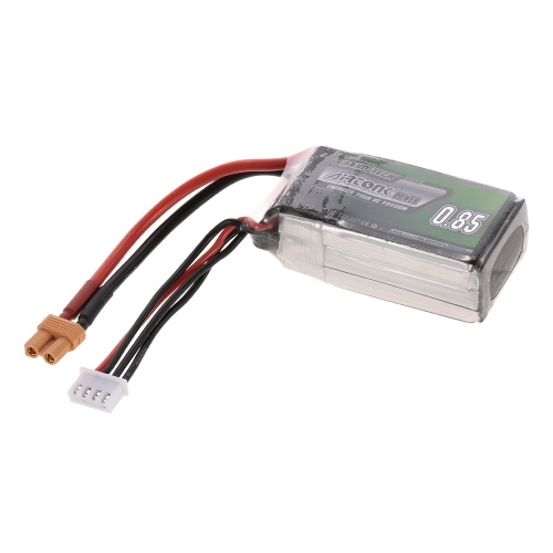 11.1V 850mAh 30C 3S Rechargeable Li-Po Battery with XT30 Plug for RC Drone Quadcopter Helicopter Airplane Car Truck
