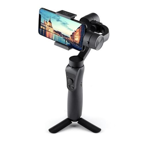 JXR-S5 3-axis Handheld Gimbal w/ Tripod Tray Stabilizer Selfie Stick